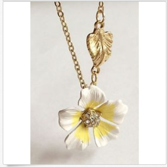 Jewelry Plumeria Flower Necklace Gold Hibiscus Island 19 Poshmark